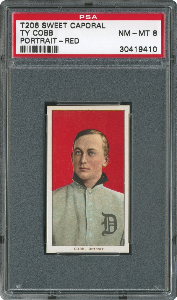 1909-1911 T206 White Border  Ty Cobb (Portrait-Red)