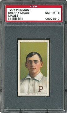 1909-1911 T206 White Border  Sherry Magie (Magee)