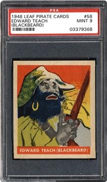 1948 Leaf Pirate Cards 58 Edward Teach (Blackbeard)