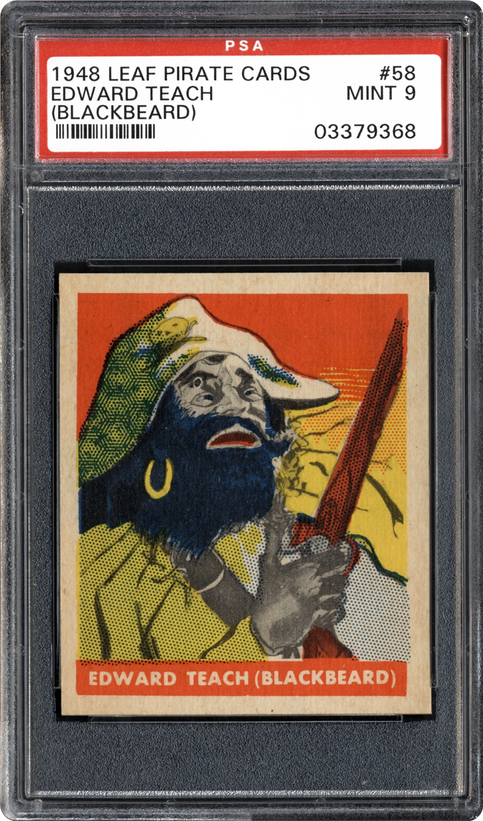1948 Leaf Pirate Cards 58 Edward Teach (Blackbeard)