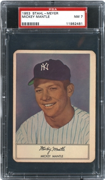 1953 Stahl-Meyer Franks  Mickey Mantle