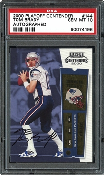 2000 Playoff Contenders 144 Tom Brady (Autographed)