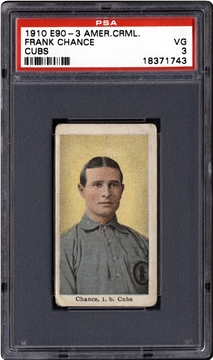 1910 American Caramel White Sox/Cubs (E90-3)  Frank Chance (Cubs)