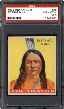 1933 Goudey Indian Gum (R73) 38 Sitting Bull