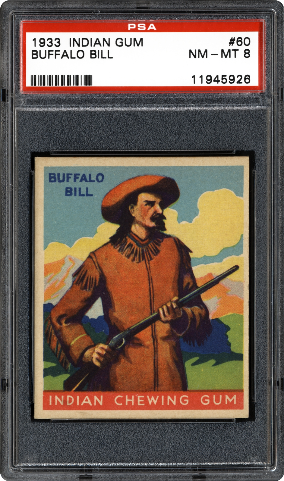1933 Goudey Indian Gum (R73) 60 Buffalo Bill