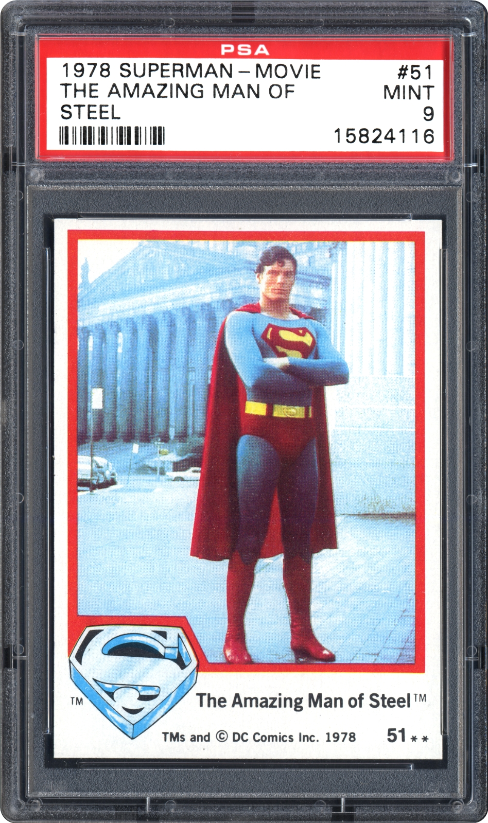 1978 Topps Superman-Movie 51 The Amazing Man Of Steel