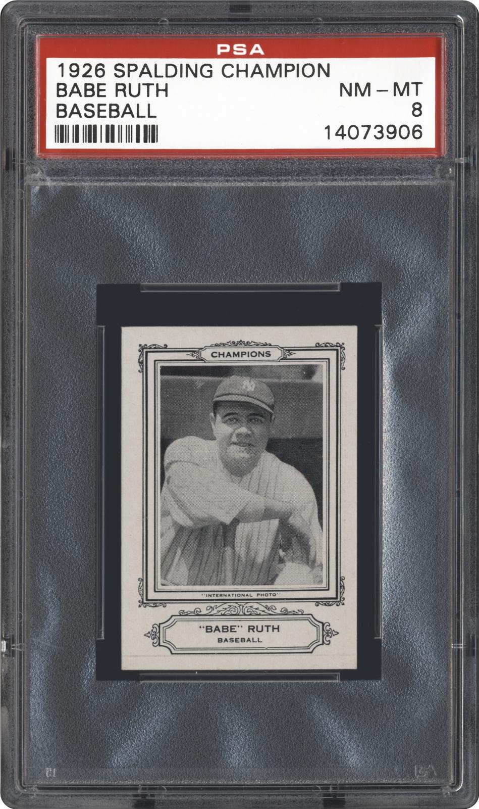 Babe Ruth Baseball Card Front And Back