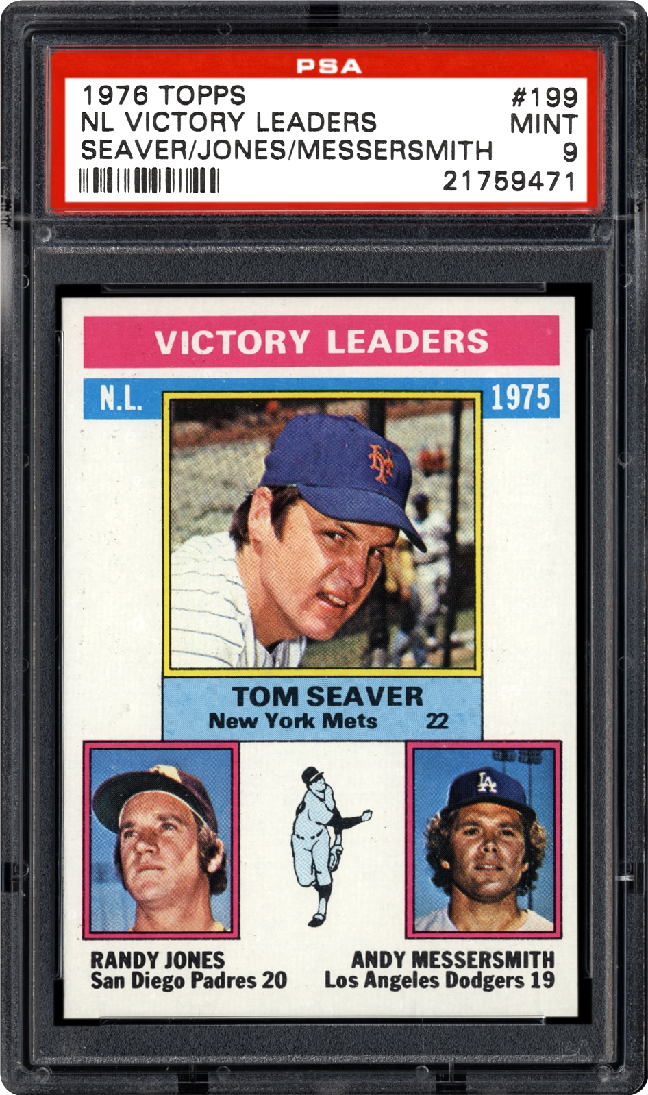1976 topps nl victory leaders seaver jones messersmith psa cardfacts. Black Bedroom Furniture Sets. Home Design Ideas