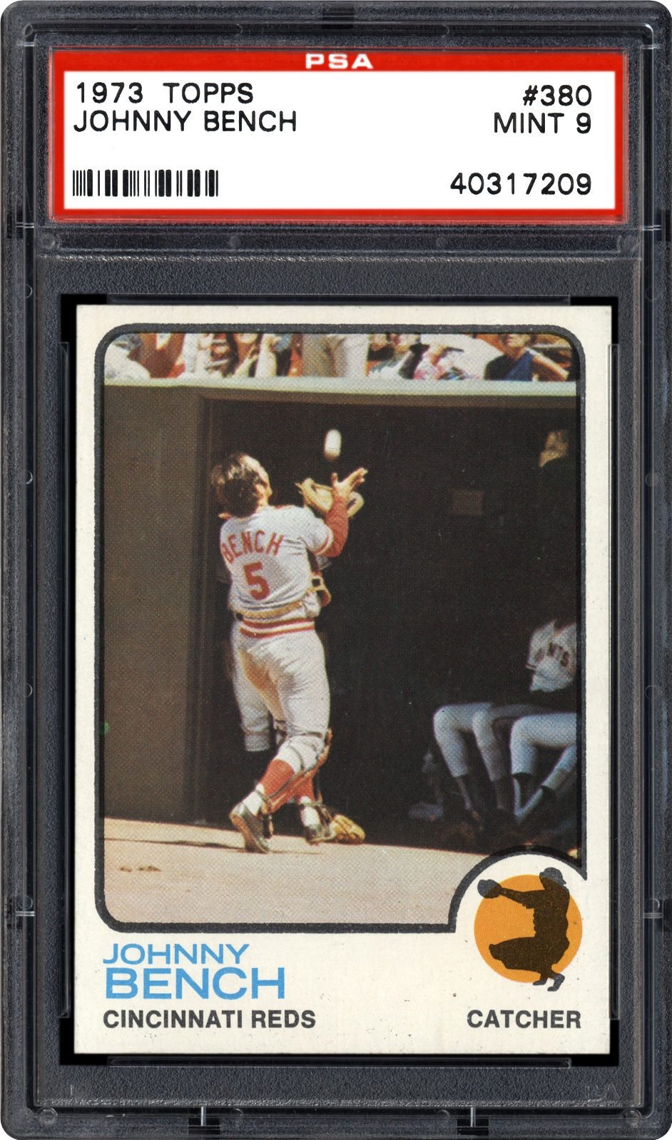 1973 Topps Johnny Bench Psa Cardfacts