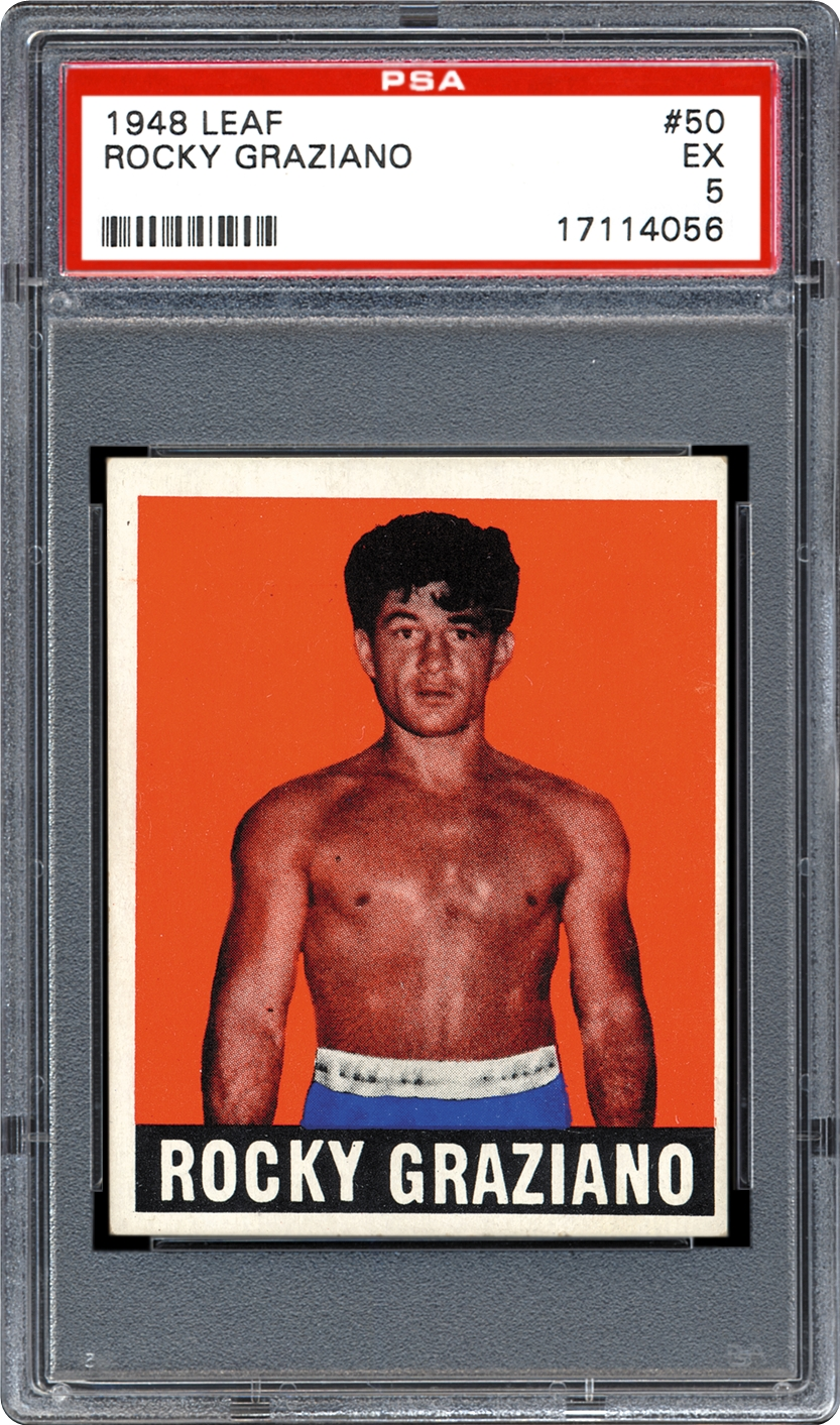 Boxing cards 1948 leaf psa cardfacts