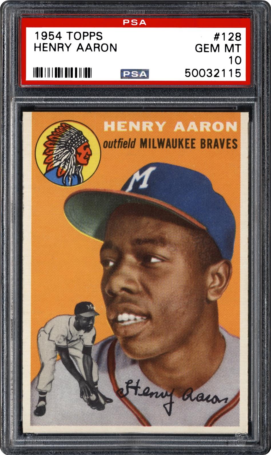 1954 Topps 128 Henry Aaron