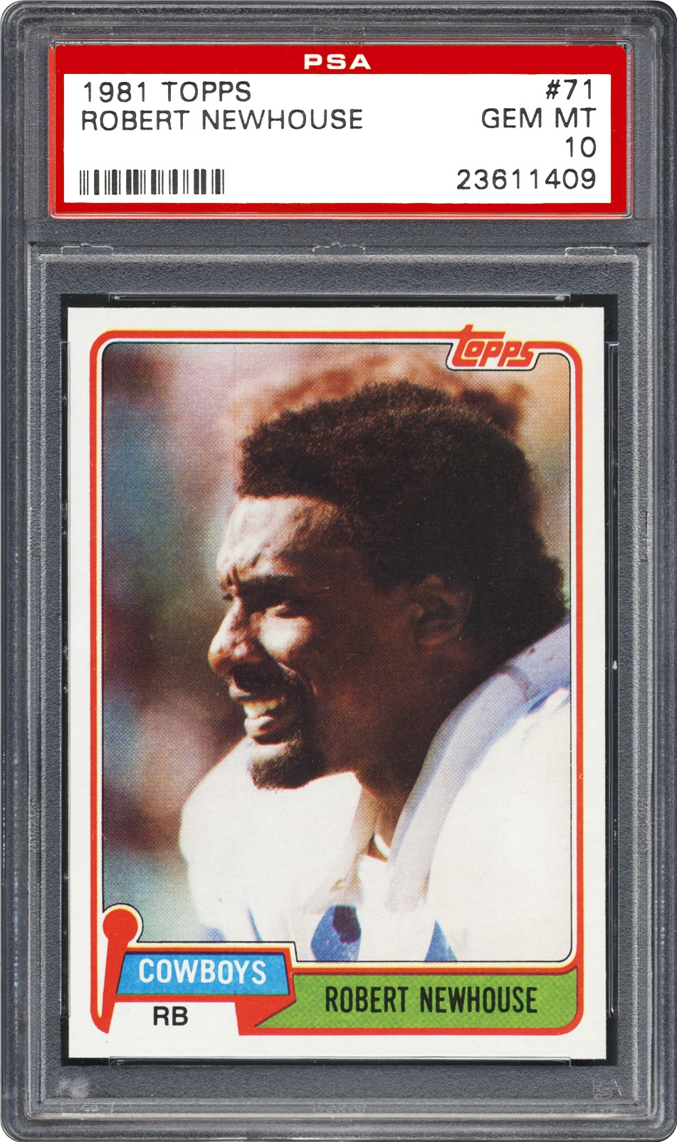 1981 Topps Robert Newhouse Psa Cardfacts