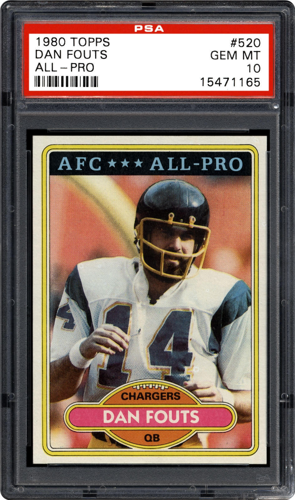 1980 Topps Dan Fouts All Pro Psa Cardfacts