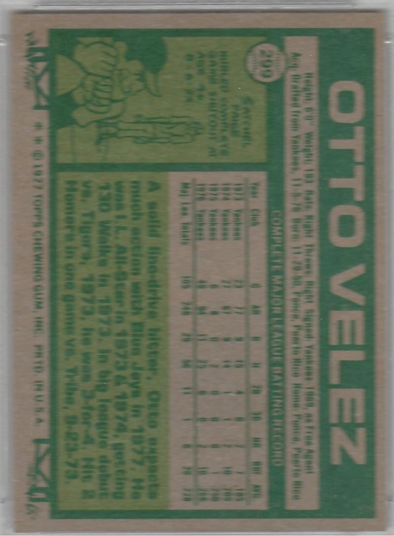 Baseball - 1977 Topps Toronto Blue Jays: The Glenn Saunders