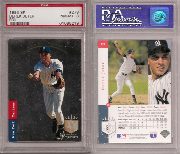 Baseball Derek Jeter Rookie Set Published Set Topazs