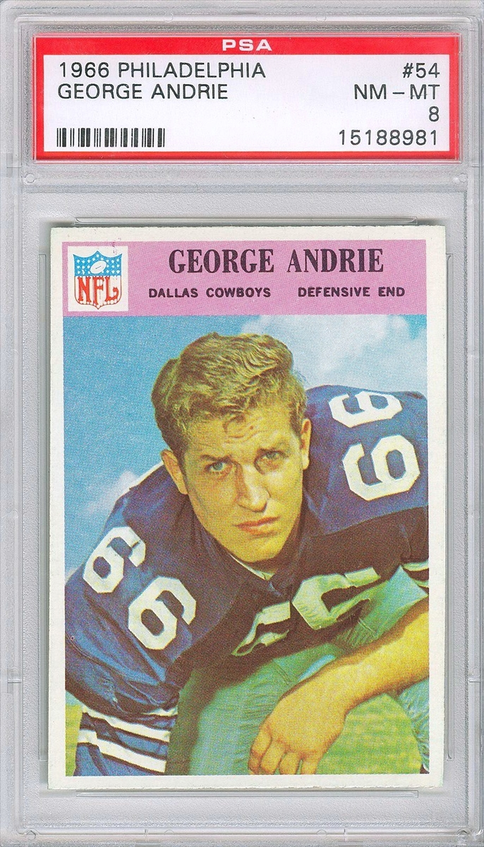 1966 PHILADELPHIA 53 DALLAS COWBOYS. 1966 PHILADELPHIA 54 GEORGE ANDRIE 4d8fd2c65