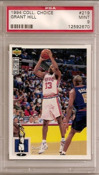 Basketball Grant Hill Rookie Set All Time Set Cj Cardboard