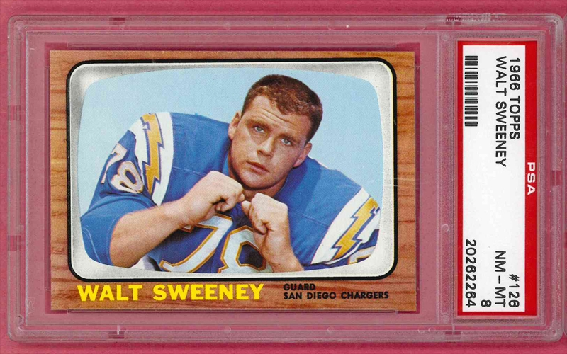 Football 1966 Topps San Diego Chargers Gabr611