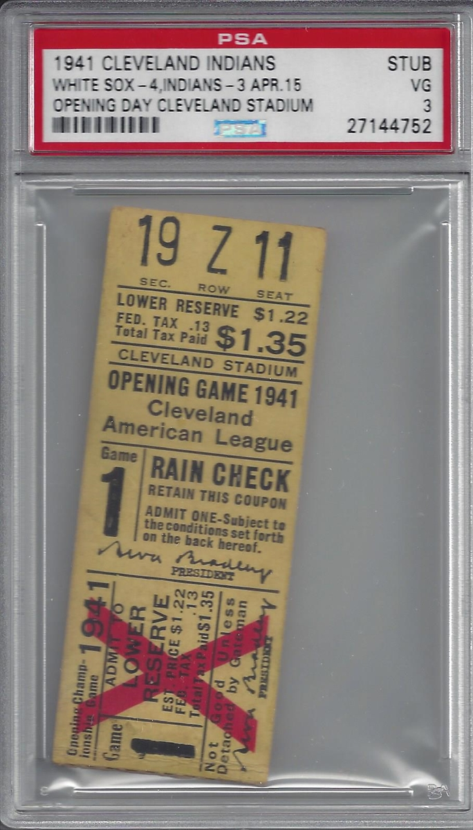 Tickets - Cleveland Indians Home Opening Day Games (1930