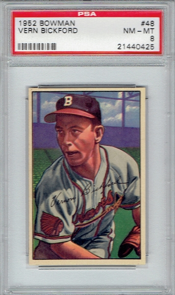 JW 1952 Bowman Boston Braves