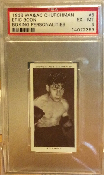 Misc Sports 1938 W.A. & A.C. Churchman Boxing Personalities: The ...
