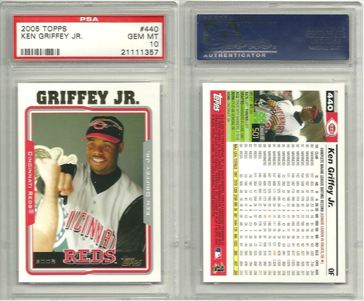 Baseball Ken Griffey Jr Basic Topps Set Published Set
