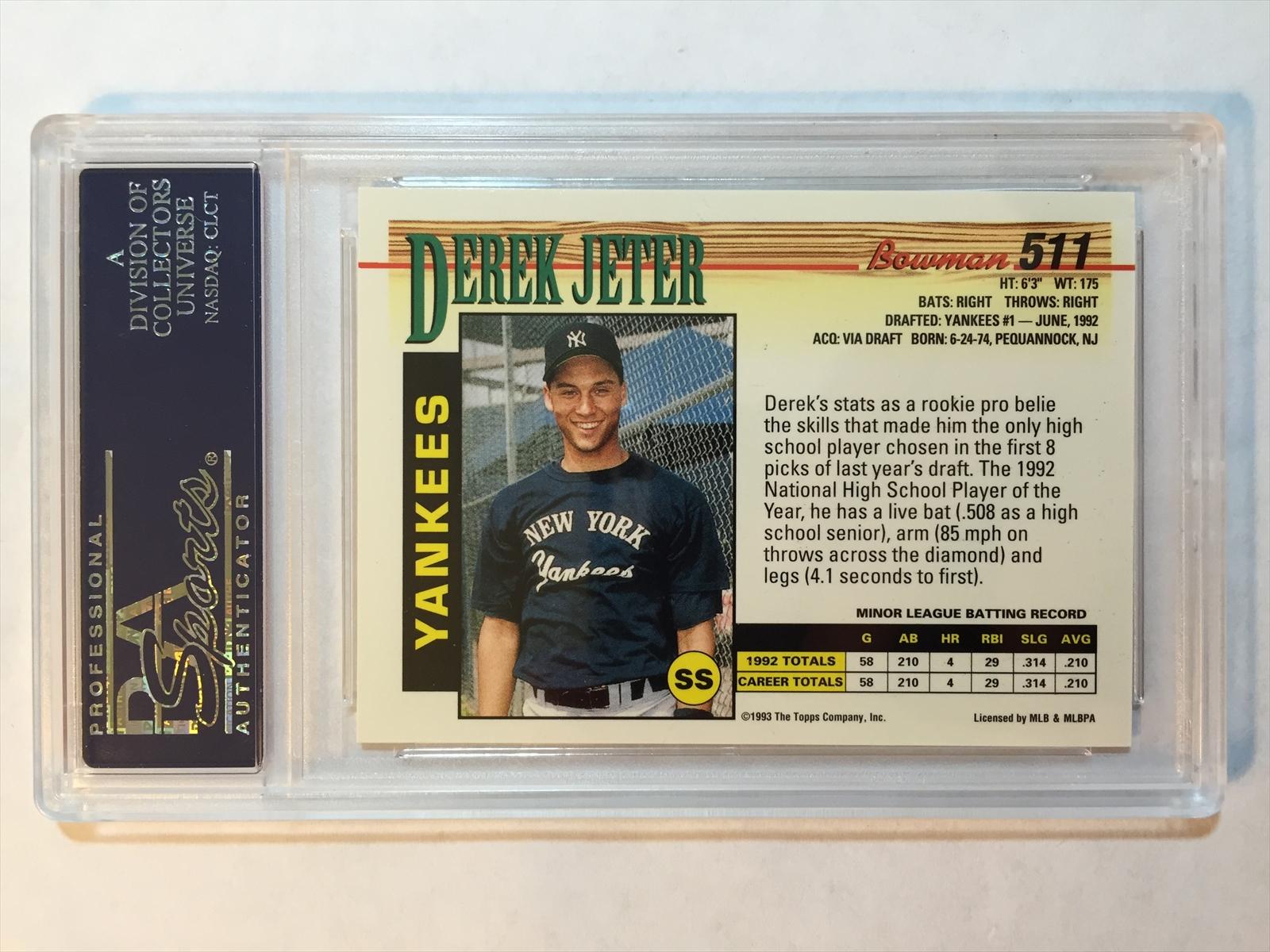 Baseball Derek Jeter Rookie Set Grumpys Derek Jeter