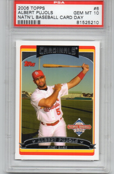 Baseball Albert Pujols Master Topps Set Published Set