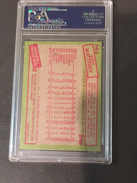 Baseball Don Mattingly Basic Topps Set Pittadam00