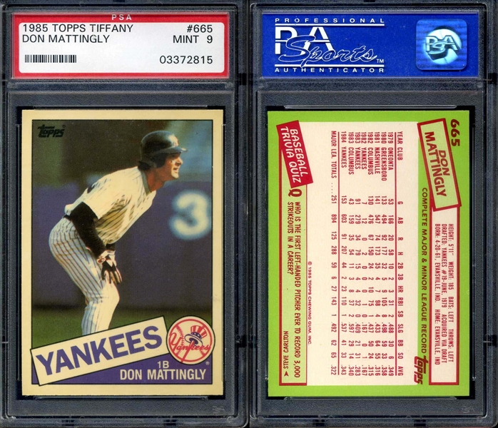 All Time Set Baseball Don Mattingly Master Topps Set