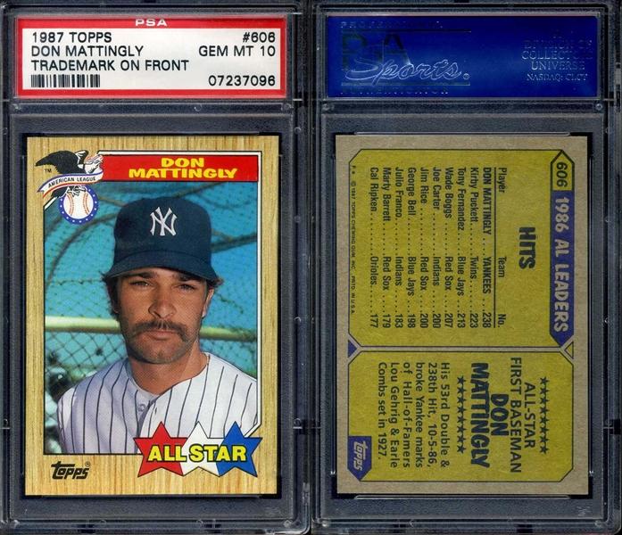Baseball Don Mattingly Master Topps Set All Time Set Awt Don Mattingly Master Topps Set