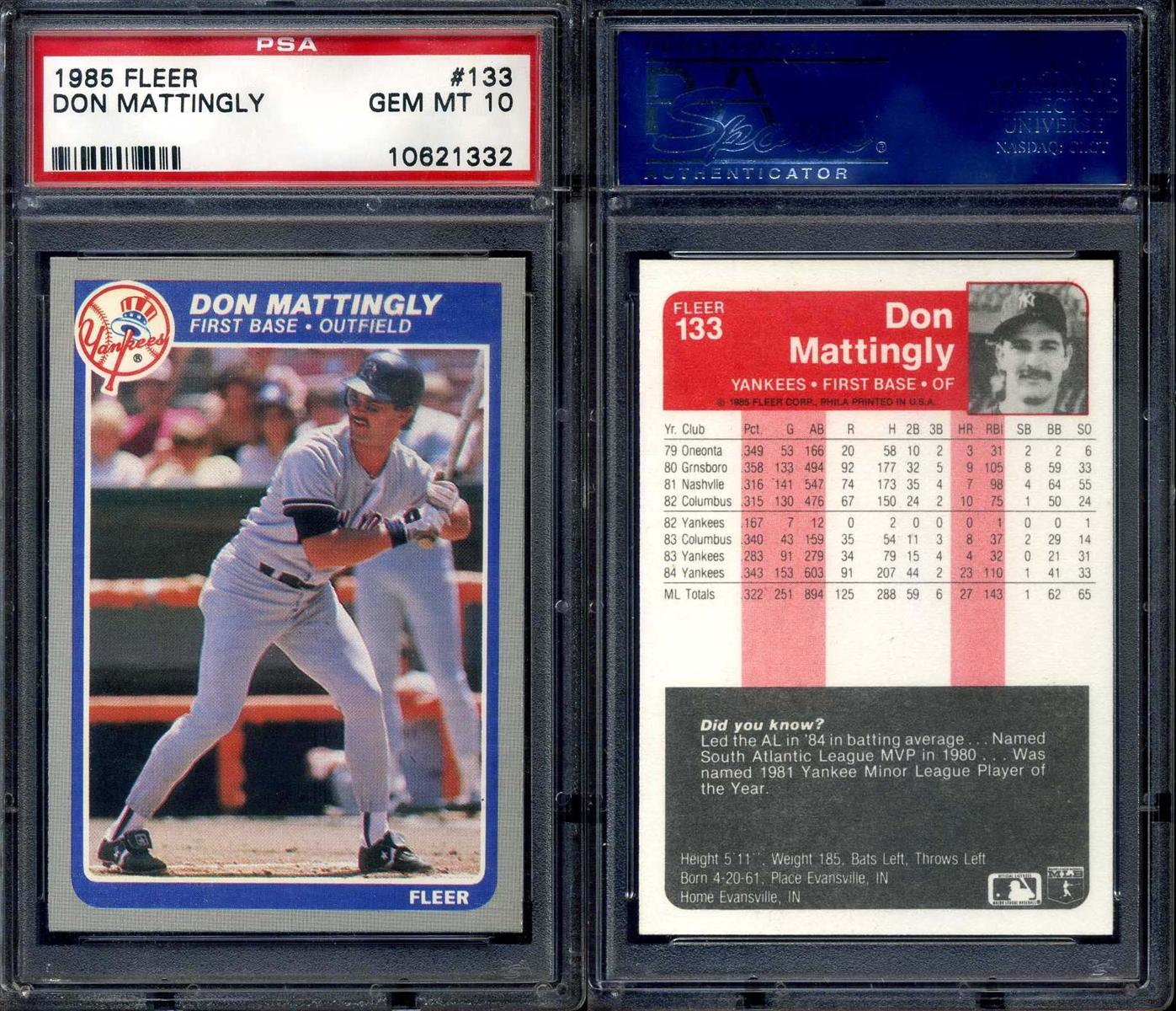 Baseball Don Mattingly Basic Set Awt Don Mattingly Basic Set Set Image Gallery