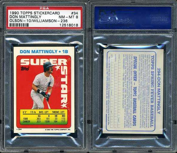 Published Set Baseball Don Mattingly Master Topps Set