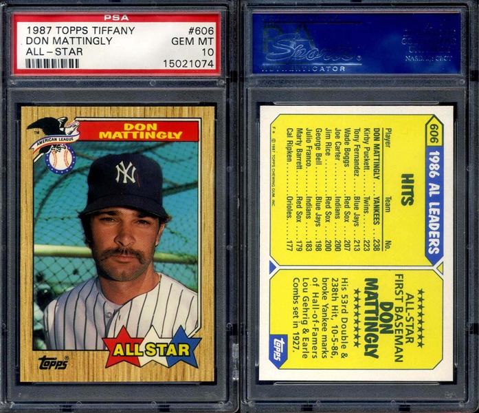 Published Set Baseball Don Mattingly Master Topps Set