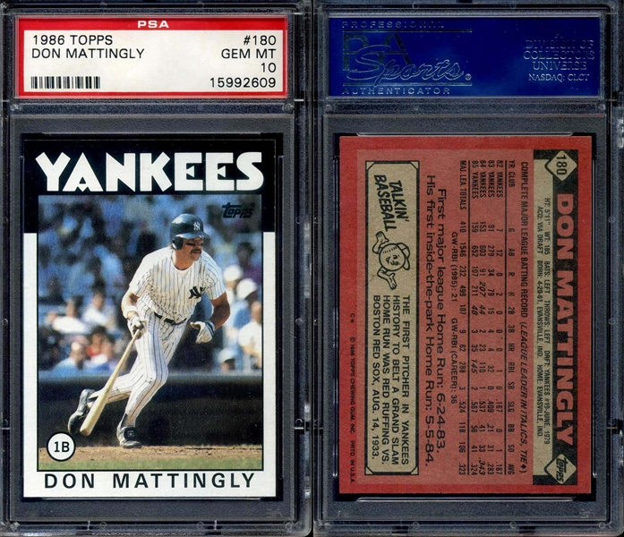 Baseball Don Mattingly Basic Topps Set Awt Don
