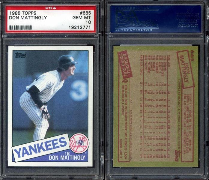 All Time Set Baseball Don Mattingly Master Topps Set