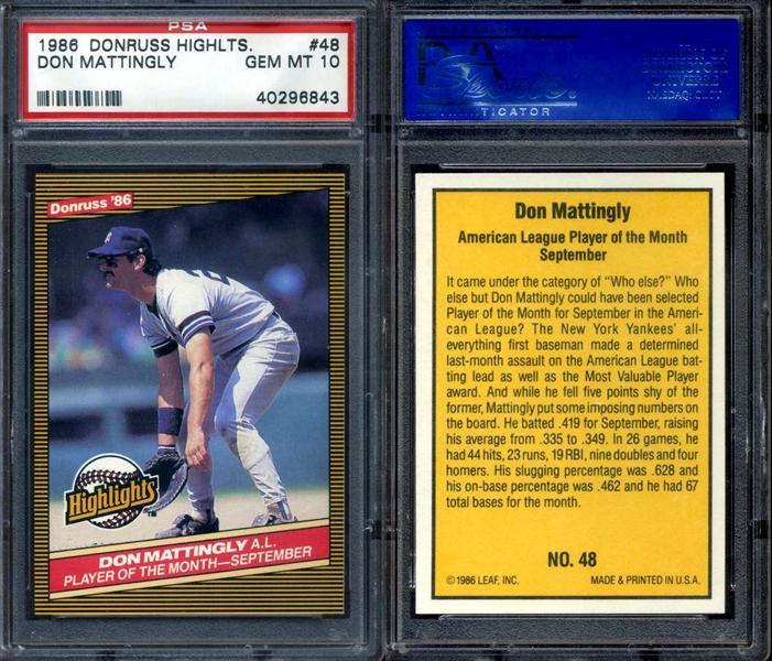 All Time Set Baseball 1986 Donruss Highlights Awt