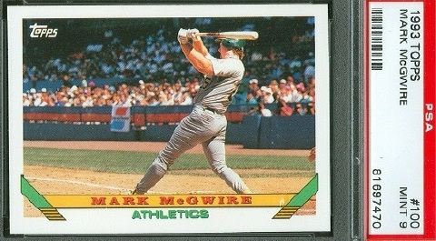 Baseball Mark Mcgwire Basic Collector Issues Set All Time Set