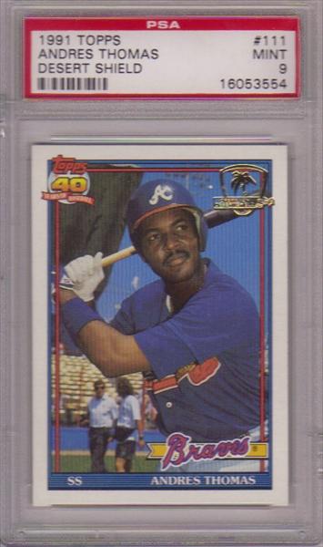 Baseball 1991 Topps Desert Shield 4 My Son Gehrig 1991