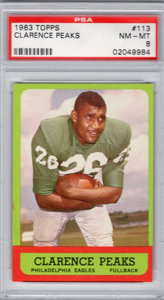 fad40caac57 1963 TOPPS 113 CLARENCE PEAKS