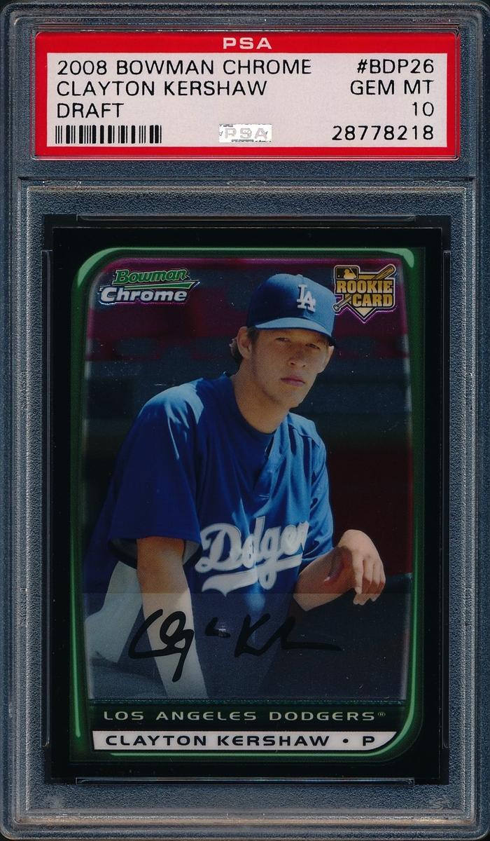 Baseball Clayton Kershaw Rookie Set Paper Gold Set Image