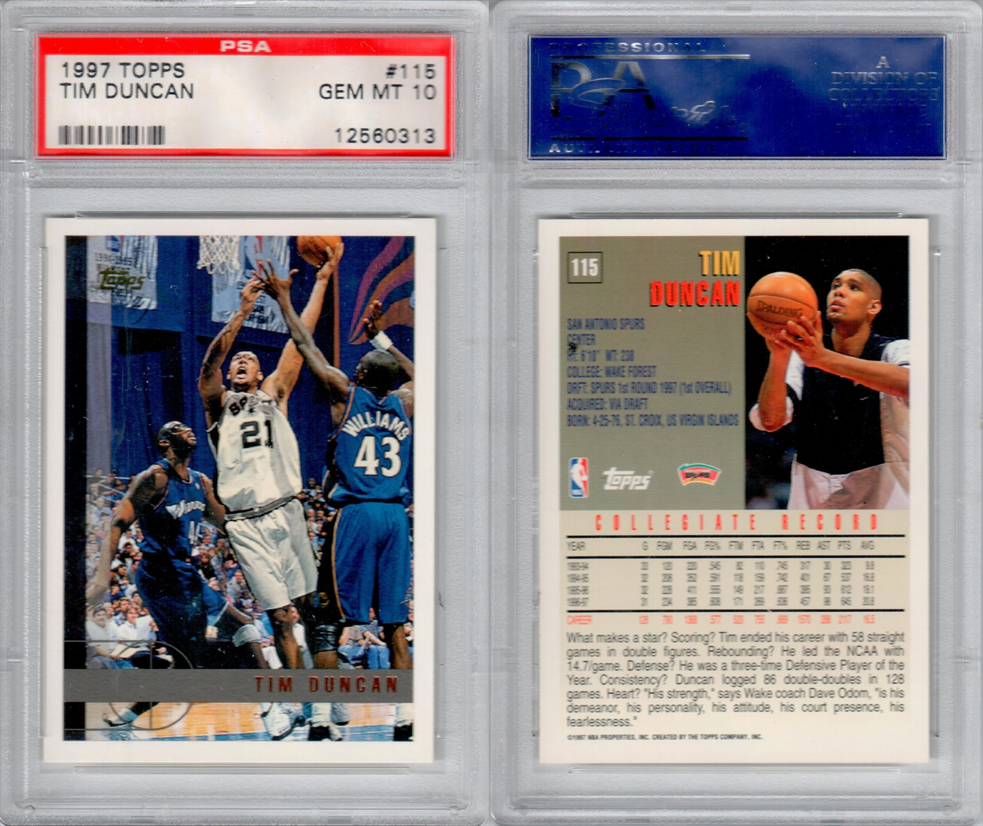 Basketball Tim Duncan Rookie Set The Siam Collection