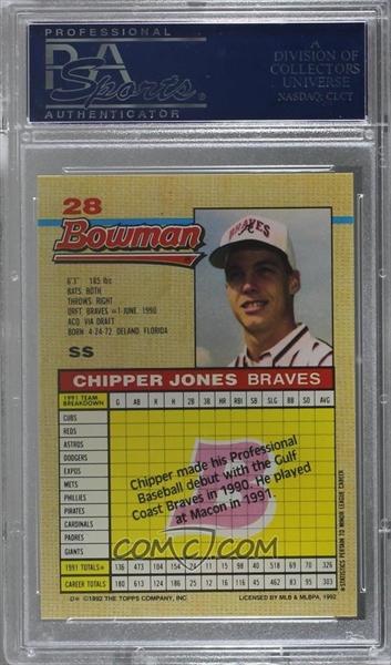 Baseball Chipper Jones Master Set The Emicam Collection Set Image