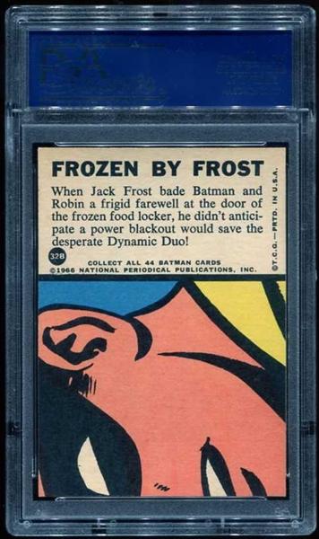 1966 BATMAN B SERIES PUZZLE BACK 32B FROZEN BY FROST