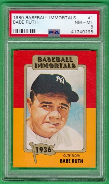 Baseball 1980 88 Baseball Immortals Complete Set All Time